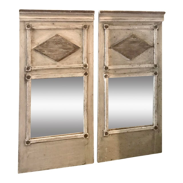 French Trumeau Style Mirrors - a Pair For Sale