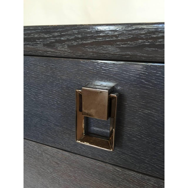 1940s Cerused Grey Oak Nightstand or Side Table - Image 4 of 5