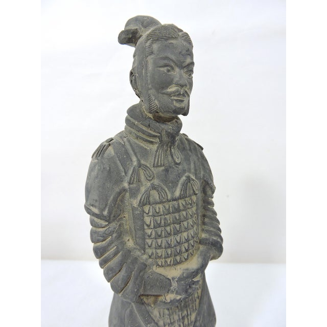Ceramic Vintage Chinese Terracotta Warrior Figure (X'ian), Boxed Statue For Sale - Image 7 of 9
