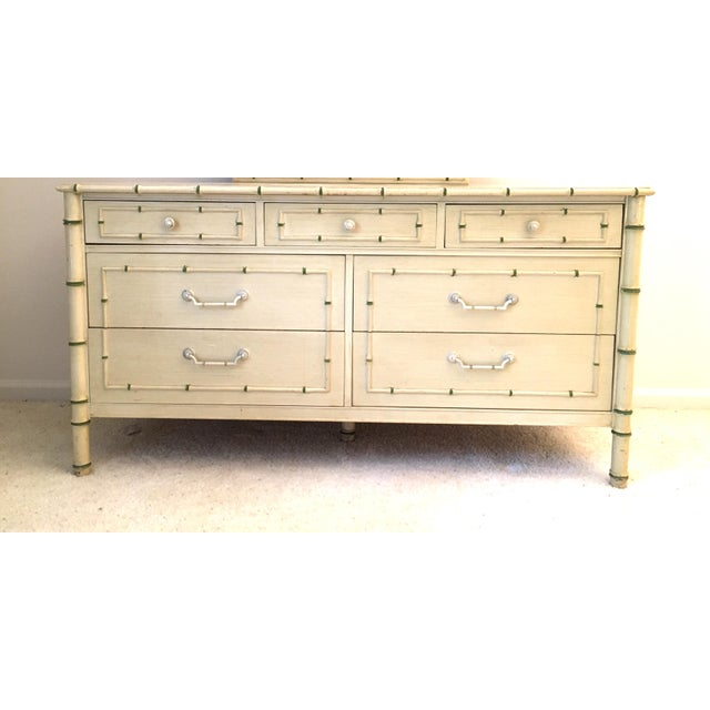 White Palm Beach Regency Faux Bamboo Dresser Thomasville For Sale - Image 8 of 8