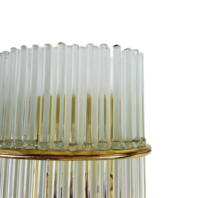 Gaetano Sciolari Glass Rod Sconces - Pair - Image 4 of 5