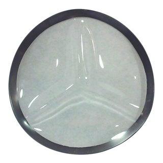 Dorothy Thorpe Silver Rim Divided Serving Platter For Sale