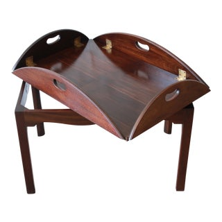 Baker Furniture Mahogany Butler's Tea Table For Sale
