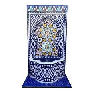 Outdoor Mosaic Tile Wall Fountain For Sale