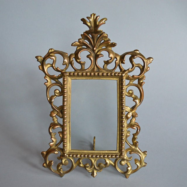 Rococo Style Gilt Brass Photo Frame - Image 2 of 5