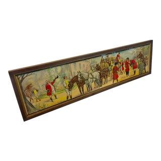 Vintage French Horses Street Scene Poster