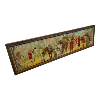 Vintage French Horses Street Scene Poster For Sale