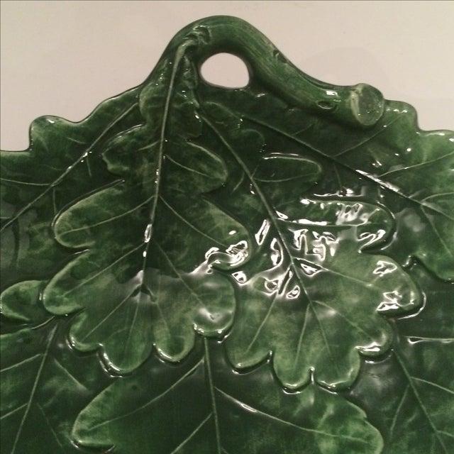 Majolica-Style Leaf Dish - Image 4 of 6