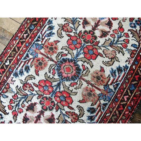 "Vintage Persian Bohemian Rug - 1'10"" x 3'1"" - Image 4 of 6"