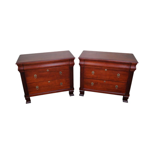 "Ethan Allen British Classics ""Daryn"" Chests Nightstands - A Pair For Sale"