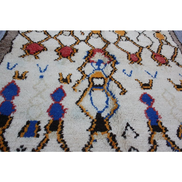 Vintage Moroccan Rug - 7'8'' x 4' For Sale - Image 4 of 4