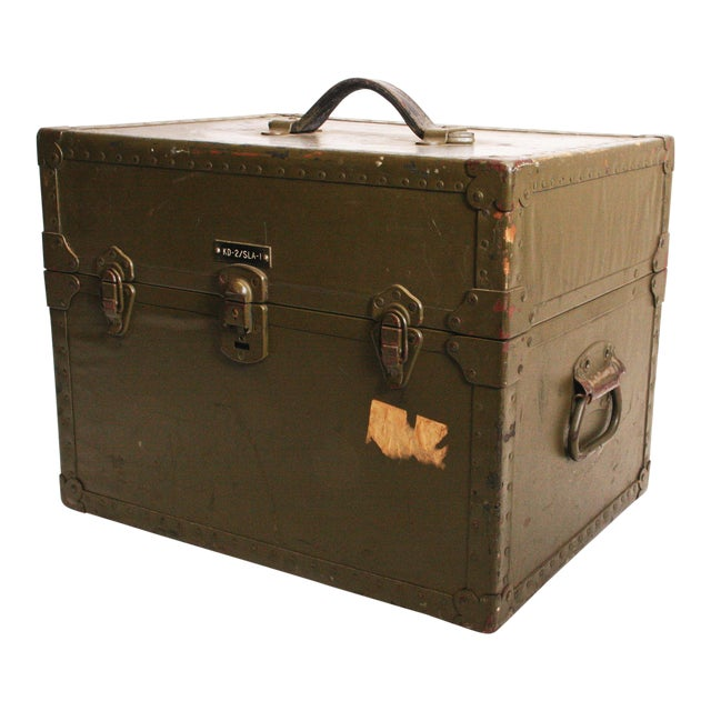 Vintage Industrial Green Military Hard Case - Image 1 of 11