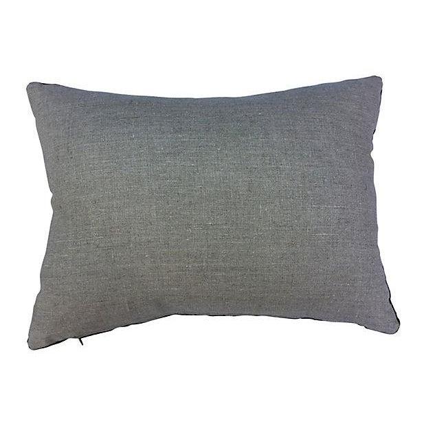 Antique Velvet Floral Textile Pillow W/ Parrot - Image 6 of 6