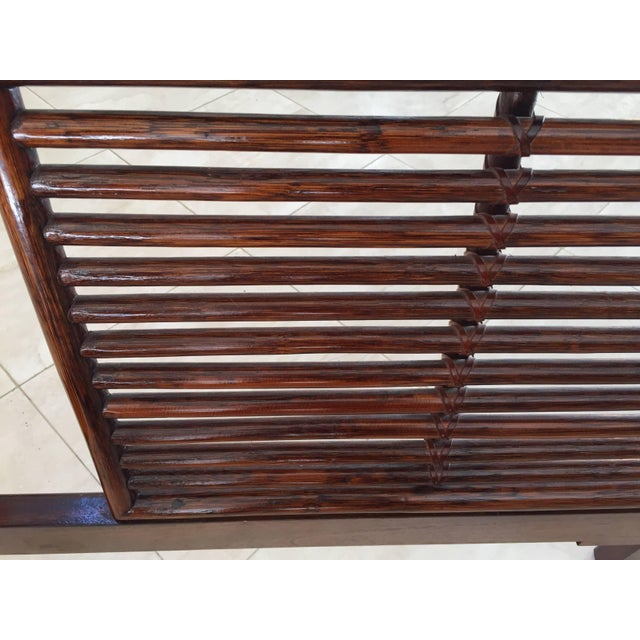 Mid Century Wicker Low Platform Bed by Maugrion Made in France for Roche Bobois For Sale In Los Angeles - Image 6 of 10