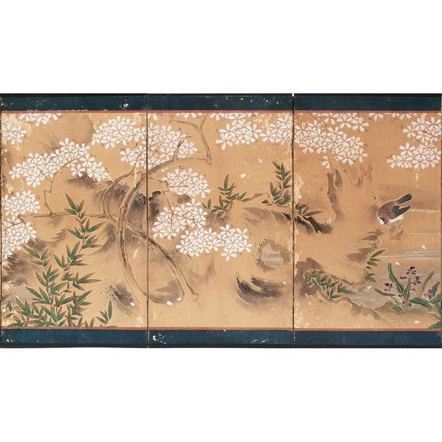 Gouache 17th-18th C. Japanese Twelve-Panel Byobu Screen For Sale - Image 7 of 13