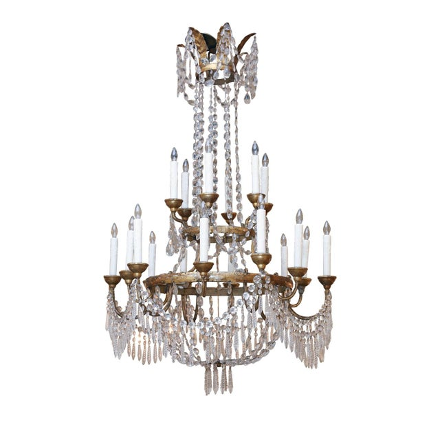 Empire Large-Scale Neoclassical Chandelier For Sale - Image 3 of 13