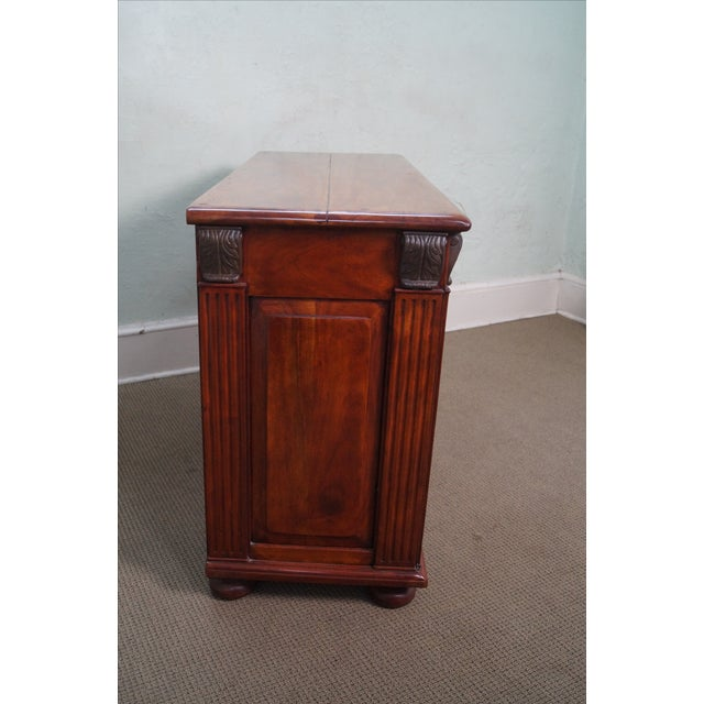 Quality Solid Mahogany Rustic Continental Server - Image 3 of 10