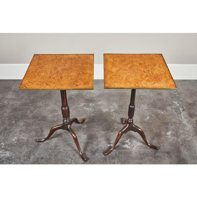Pair of Early 19th Century Swedish Pedestal Tilt-Top Tables For Sale In Los Angeles - Image 6 of 11