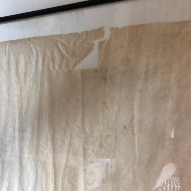 White Antique Framed Red Cross Flag For Sale - Image 8 of 12
