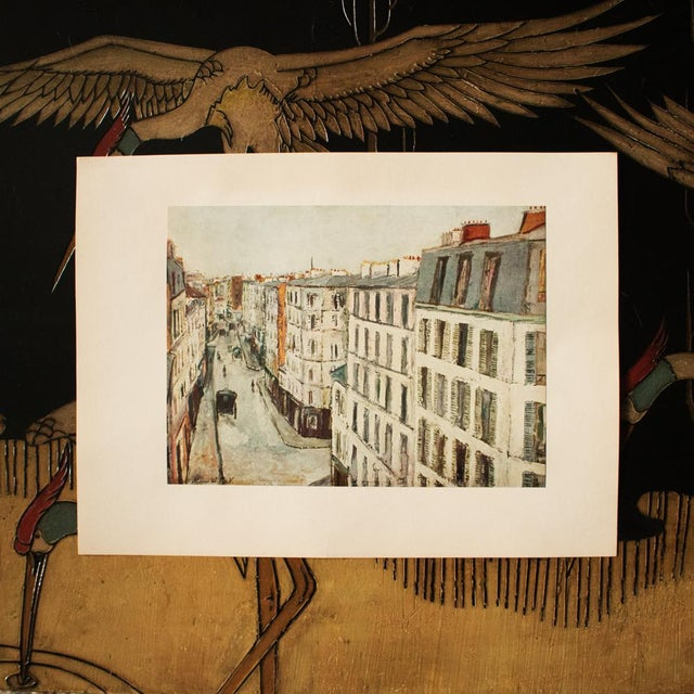 Impressionism 1950s Maurice Utrillo, Parisian Street First Edition Lithograph For Sale - Image 3 of 8
