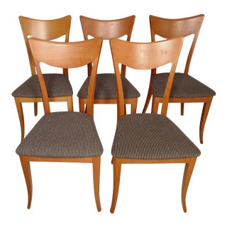 Set of Six A. Sibau Italian Dining Chairs For Sale