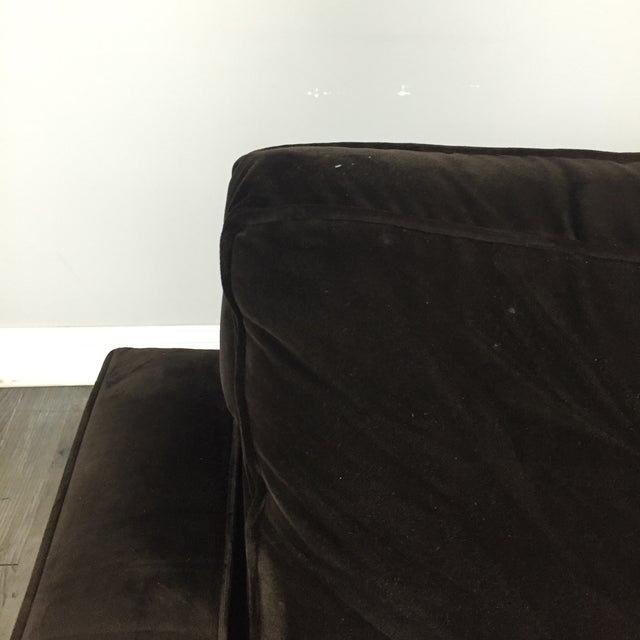 Room & Board Brown Suede Club Chair - Image 5 of 11