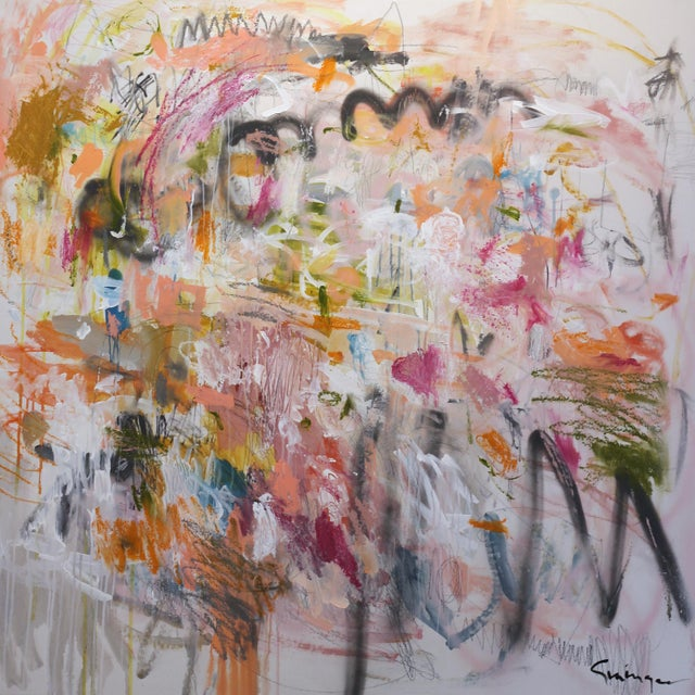 """Lesley Grainger """"Over and Over"""" Contemporary Painting For Sale - Image 9 of 9"""