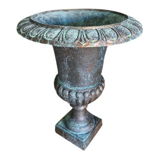 Large Midcentury Bronze Finish Urn For Sale