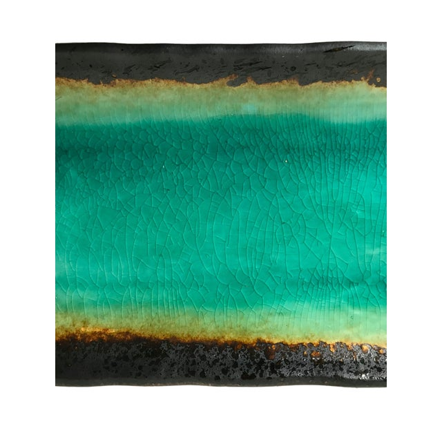 Turquoise Crackled Catchall Tray - Image 4 of 5