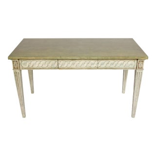 Neoclassical Painted Green and Gray Desk For Sale