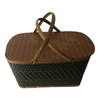 1950s Vintage Hawkeye Picnic Basket For Sale