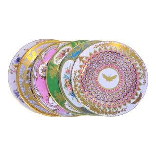 Enamaled Tin English Plates - Set of 6 For Sale