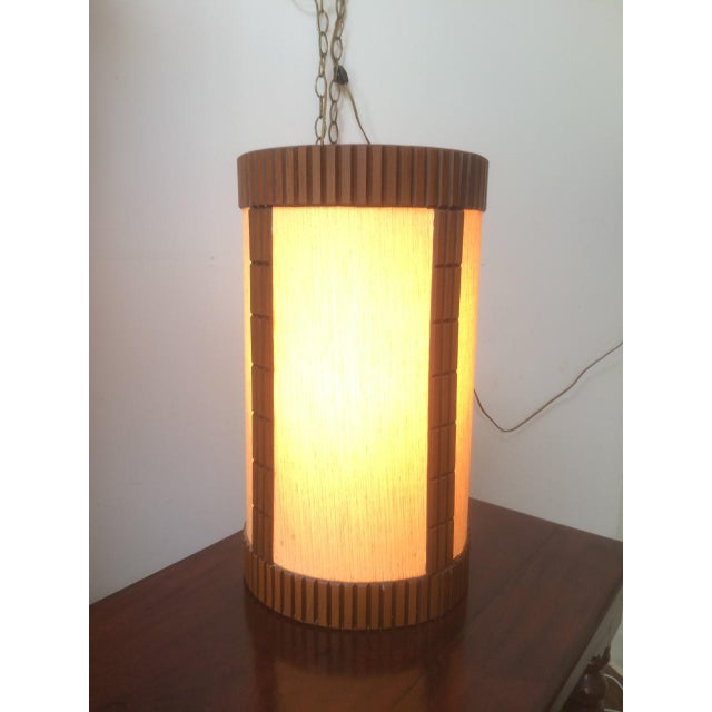 Mid Century Modern Hanging Light Fixtures A Pair Chairish
