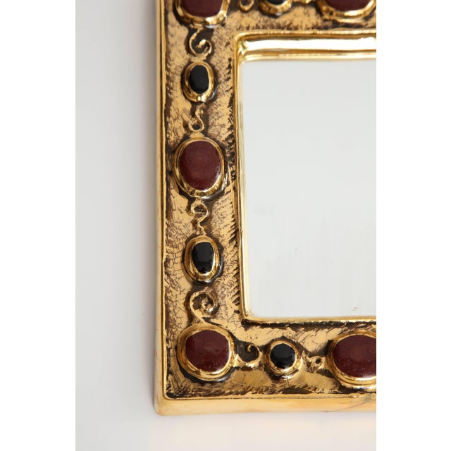 French Jeweled François Lembo Mirror For Sale - Image 3 of 8