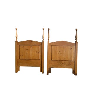 Country Farmhouse Lodge Large Twin Plank Poster Headboards - a Pair For Sale