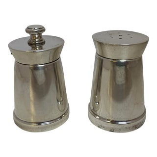 1970s Tiffany Sterling Silver Salt Shaker and Pepper Mill For Sale