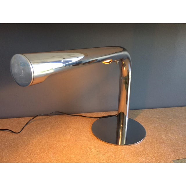Metal Robert Sonneman Chrome Desk Lamp - Circa 1970s For Sale - Image 7 of 12
