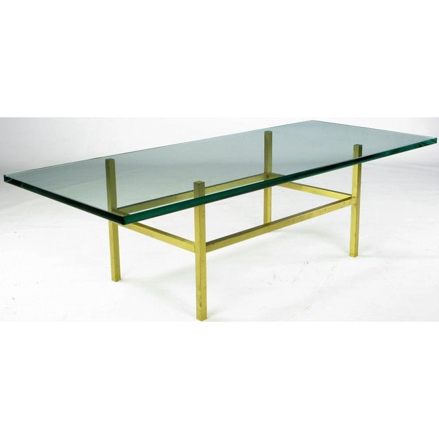 Solid Brass Square Bar Coffee Table After Dunbar - Image 4 of 4