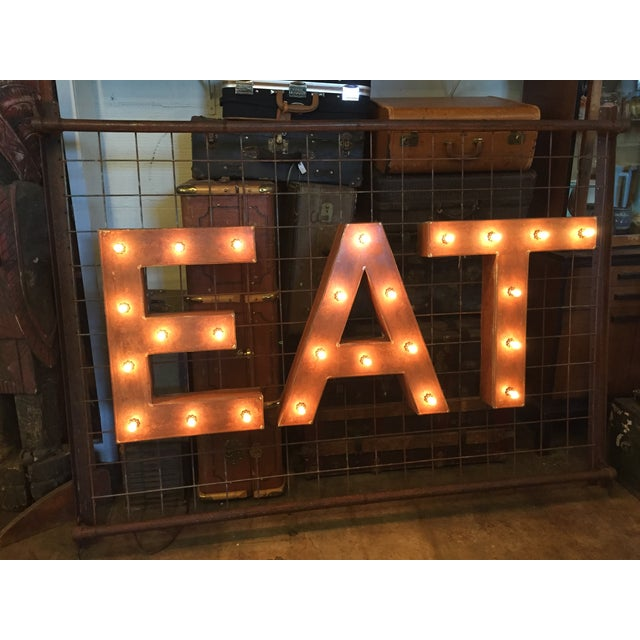 1940s Vintage Up-Cycled Ambient 'Eat' Sign - Image 2 of 10