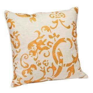 """Milano"" Mango Hand Printed 20"" Decorative Pillow"