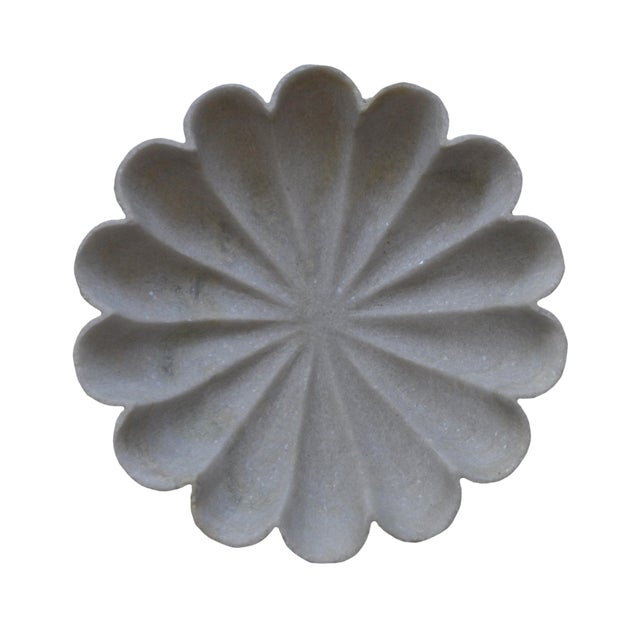 """Marble Flower 12"""" Bowl For Sale"""