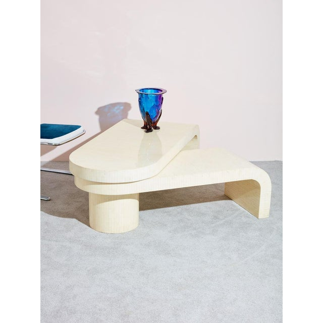 Karl Springer LTD Tessellated Bone Swivel Coffee Table For Sale - Image 4 of 5