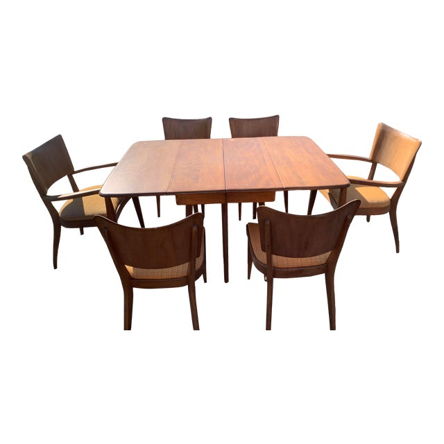 Vintage Mid-Century Heywood Wakefield Table and Chair Set For Sale