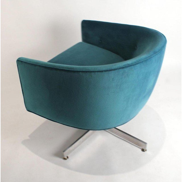 Milo Baughman Tilt and Swivel Lounge Chairs for Thayer Coggin For Sale In Dallas - Image 6 of 11