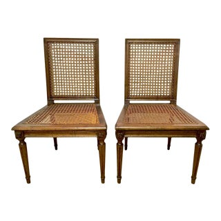 Louis XVI Style Slipper Chairs or Chauffeuses - A Pair For Sale