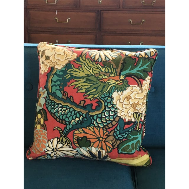 Schumacher Chiang Mai Dragon Pillows - A Pair - Image 5 of 8