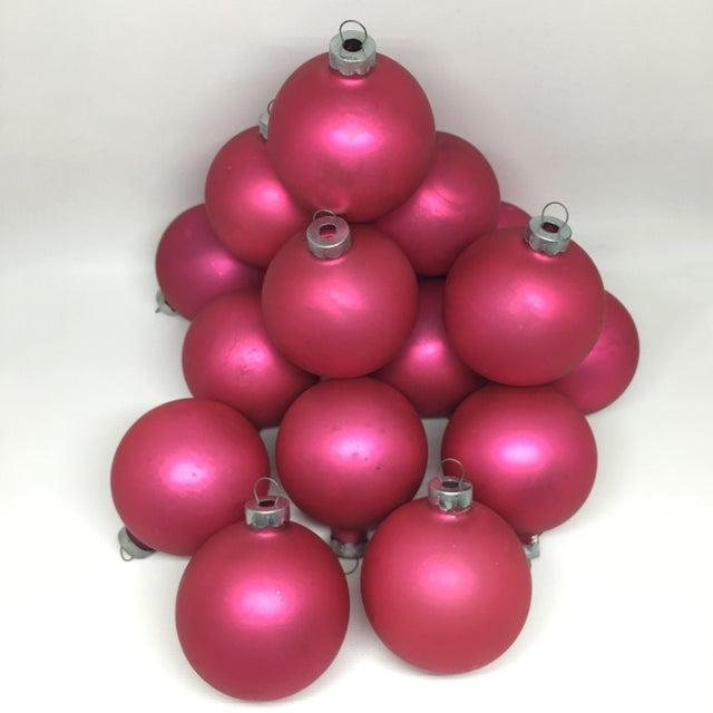 vintage pink glass christmas tree ornaments set of 16 for sale image 5 of 11 - Christmas Tree Ornaments Sets