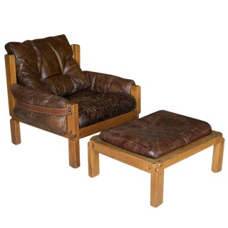S15 Lounge Chair & Ottoman , Pierre Chapo, France For Sale
