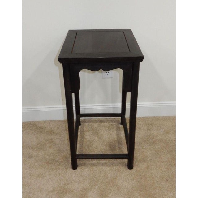 Antique Chinese Zitan Wood Side Table - Image 6 of 11