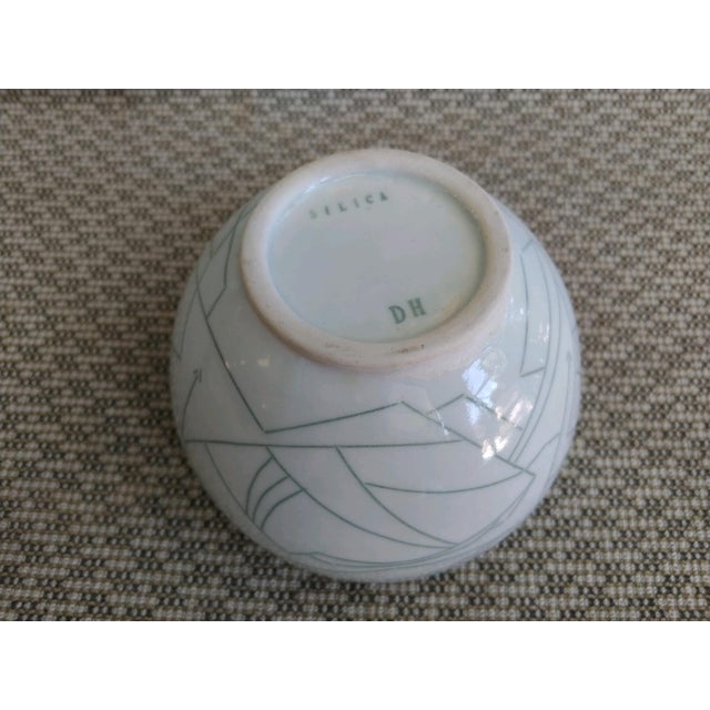 White Daric Harvie Art Deco Cubist Style Bowl For Sale - Image 8 of 9